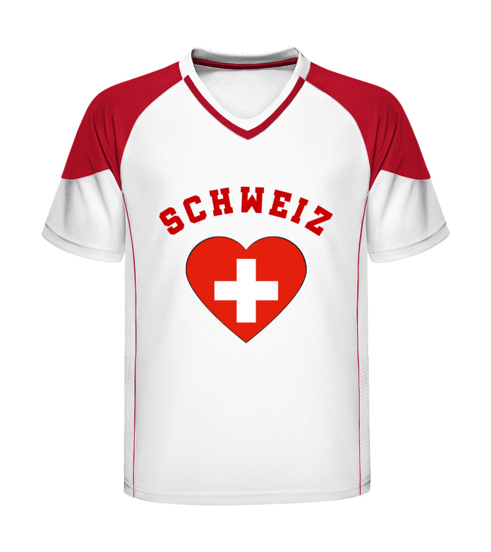 pretty nice 36b96 b5c28 Ein Herz für die Schweiz - T-Shirt Druck