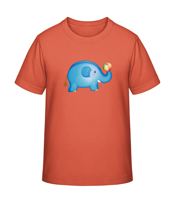 size 40 99d8d d9d36 Elefant mit Ball - T-Shirt Druck