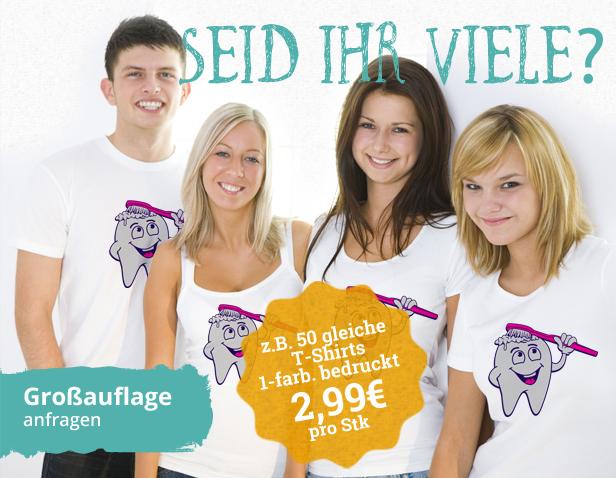 T-Shirts ab 50 Stk. 2,99€