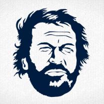 Bud Spencer Kopf als T-Shirt Motiv zum bedrucken