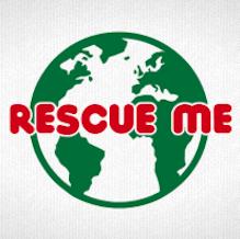 Globus mit Rescue me als T-Shirt Motiv zum bedrucken